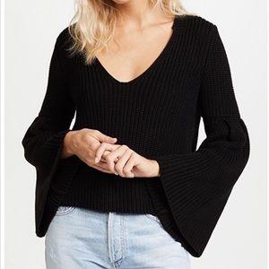 NWOT Free People Black damsel knit sweater